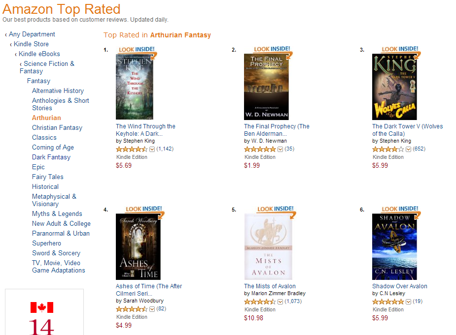 Shadow Over Avalon at #6!